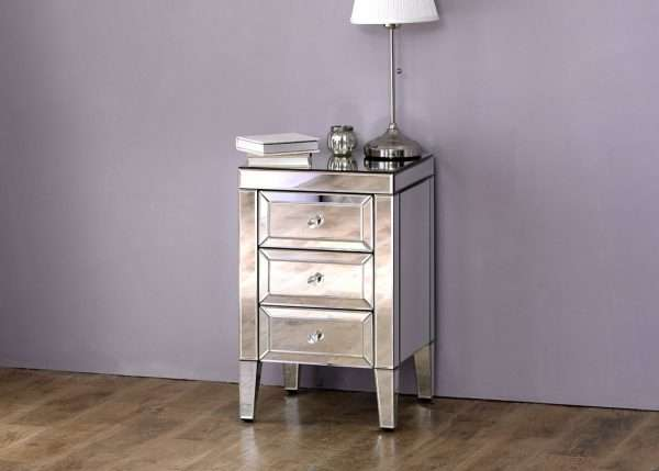 Valencia Mirrored Bedside Table