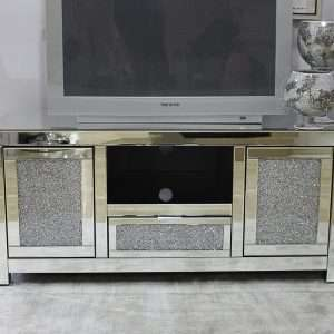 Warren Mirrored TV Stand