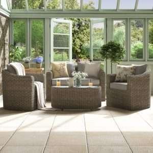Waterton 4 Seater Rattan Sofa Set