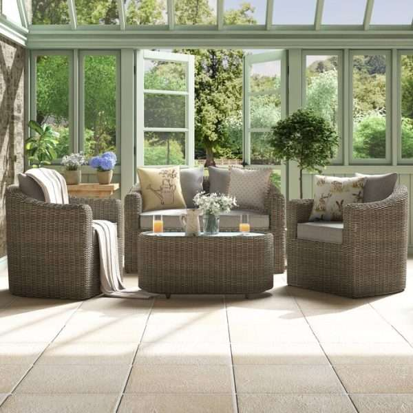 Waterton 4 Seater Rattan Sofa Set