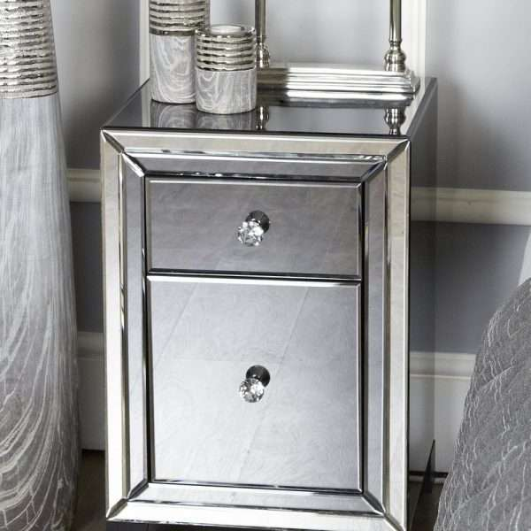 Williams Mirrored Bedside Table