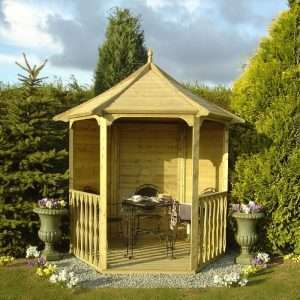 Hexagonal Wooden Arbour